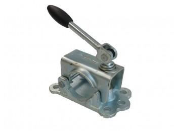 Neuswiel-steunpootklem 48mm met knikspindel | AWB Onderdelen