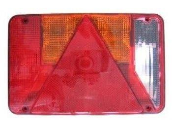 Achterlichtglas Universeel Radex met achteruitrijlicht   AWB Onderdelen
